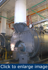 Figure 2. This 600-bhp boiler was being operated during summer only to supply the reheat coils