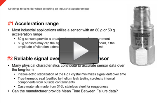 12 things to consider when selecting industrial vibration sensors