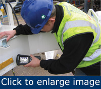Tagged assets can be instantly scanned and identified using handheld computers.