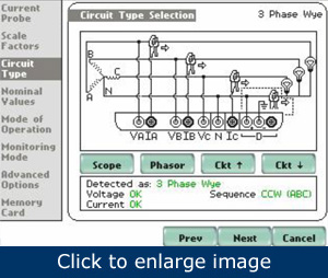 Figure 1. The analyzer's online help can show how to make the connections properly.