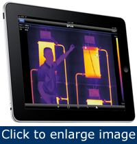 Figure 3. The FLIR Viewer App lets you send thermal images directly to your iPad and email it right away.