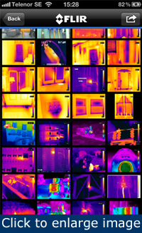 Figure 4. With an iPhone, you can carry every FLIR IR picture ever taken anywhere you go.