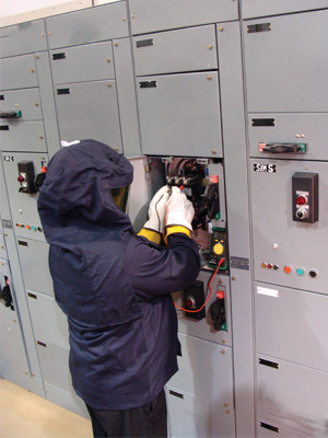 Figure 4. Most employers, operators, and electricians are knowledgeable in the selection and inspection requirements for electrical PPE used for the prevention of electrical shock hazards, as well as head, eye, hand, and foot protective equipment.