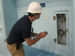 Data in the shift operations management system taken by operators during rounds as well as plant process computer data are available to the system engineers. (Source: Constellation Energy Nuclear Group)