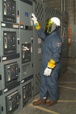 Figure 1. NFPA 70E defines specific safe work practices and personal protective equipment (PPE) for workers to help protect them from these hazards. (Source: Oberon Company)